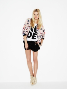 Printed Bomber Jacket €15, Print TShirt €5, Shorts €11, High Tops €20 In Stores from January