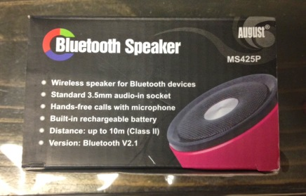 Bluetoothe Speaker August